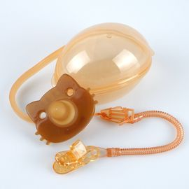 China Symmetrical Baby Silicone Pacifier , Customized Color Baby Pacifier Nipple supplier