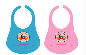 China Washable Baby Bibs Set Superior Silica Gel , Health Heat Resisting supplier