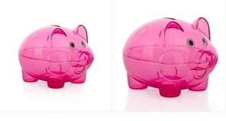 China High Performance Transparent Piggy Bank Pink Color Easy To Save Money supplier