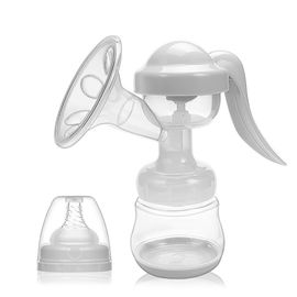 China Hand Operated Baby Breast Pump White Color Customized Size FDA / SGS Listed supplier