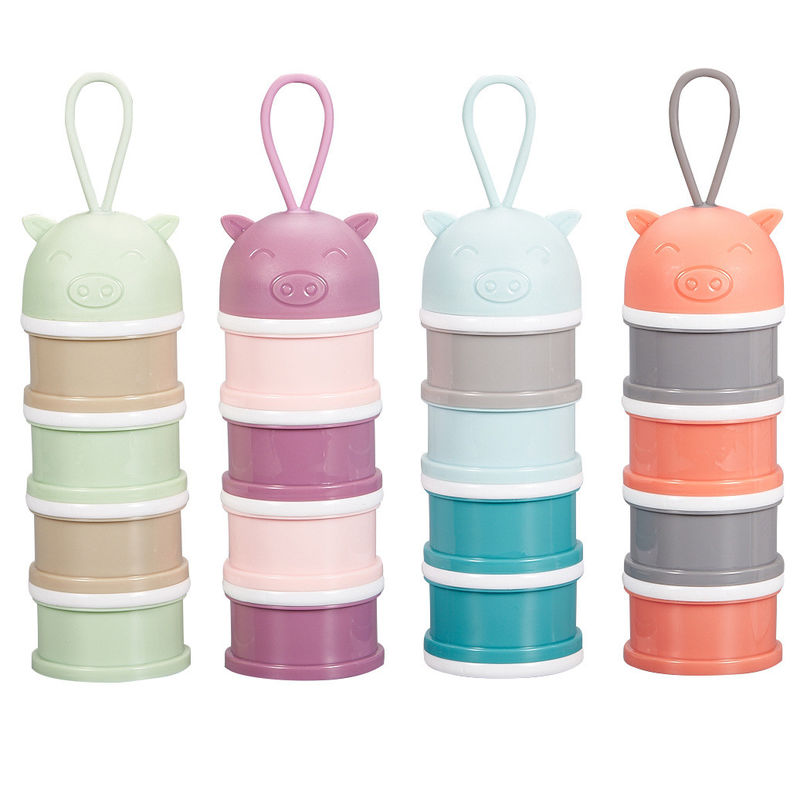 Narrow Footprint Portable Infant Food Container Multi Layers Practical